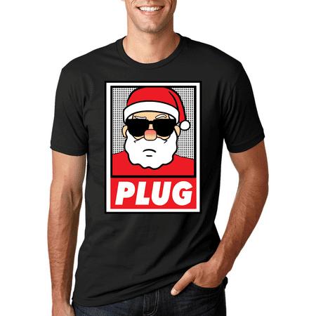 Santa Plug | Mens Christmas T-Shirt