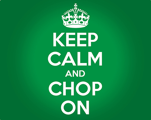 Microthin Flexible Cutting Mat - 12 x 15 - Keep Calm and Chop On