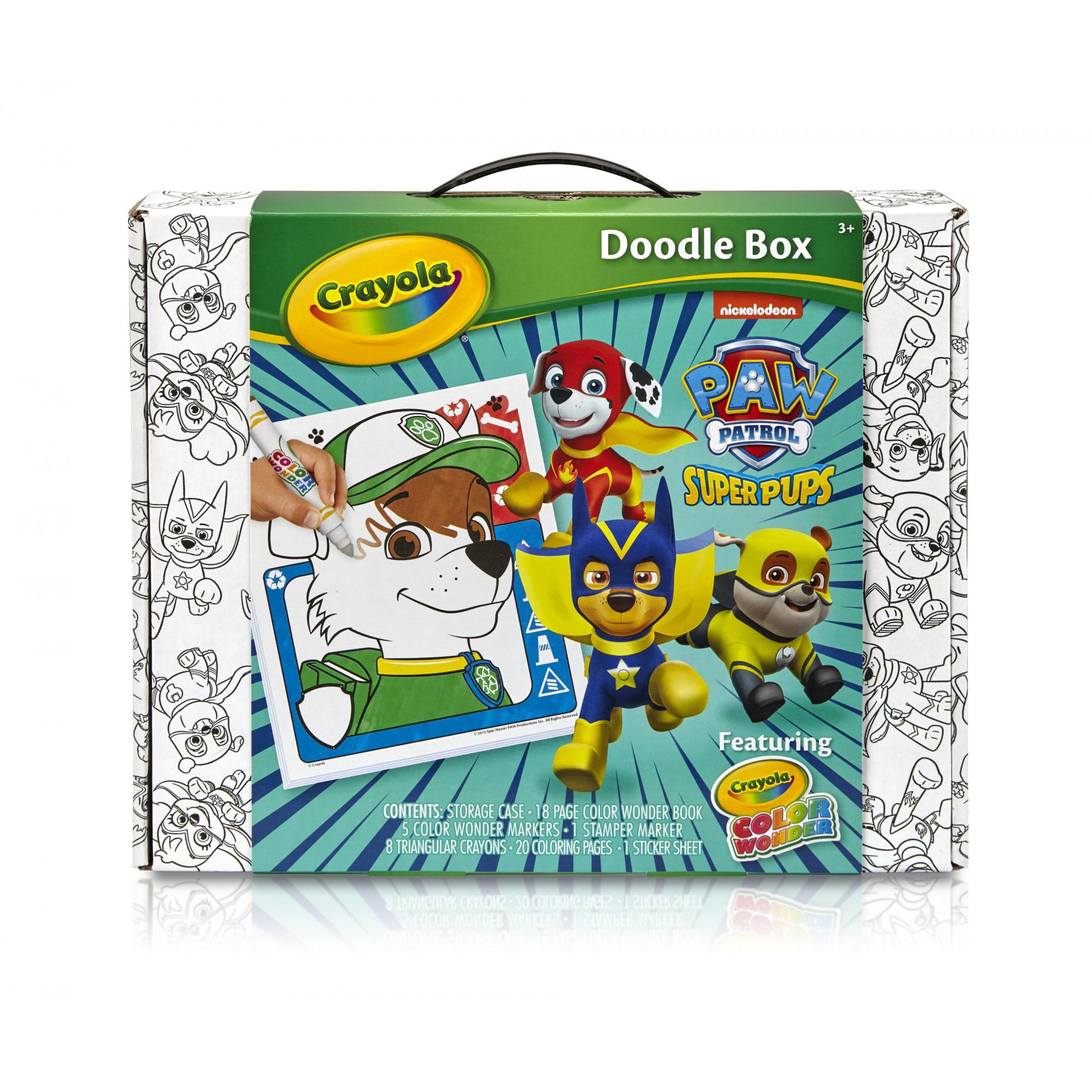 crayola color wonder paw patrol superpups doodle box art kit walmartcom