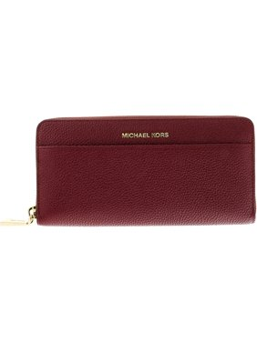 dbf81bdb323f Product Image Michael Kors Women's Mercer Continental Pocket Money Piece  Leather Wallet - Mulberry