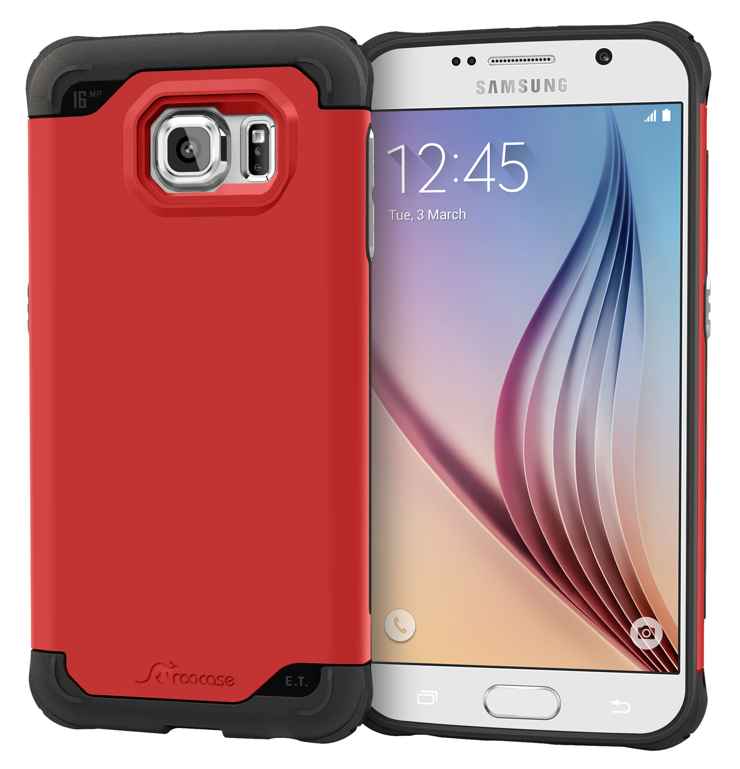 Galaxy S6 Case, roocase [Exec Tough] Galaxy S6 Slim Fit Case Hybrid PC / TPU [Corner Protection] Armor Cover Case for Samsung Galaxy S6 (2015)