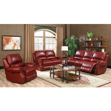Cambridge Rustic 3-Piece Living Room Set: Sofa, Loveseat and Recliner