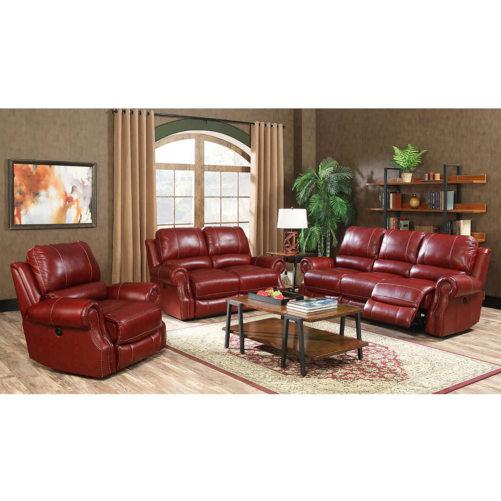 Cambridge Rustic 3 Piece Living Room Set: Sofa, Loveseat And Recliner