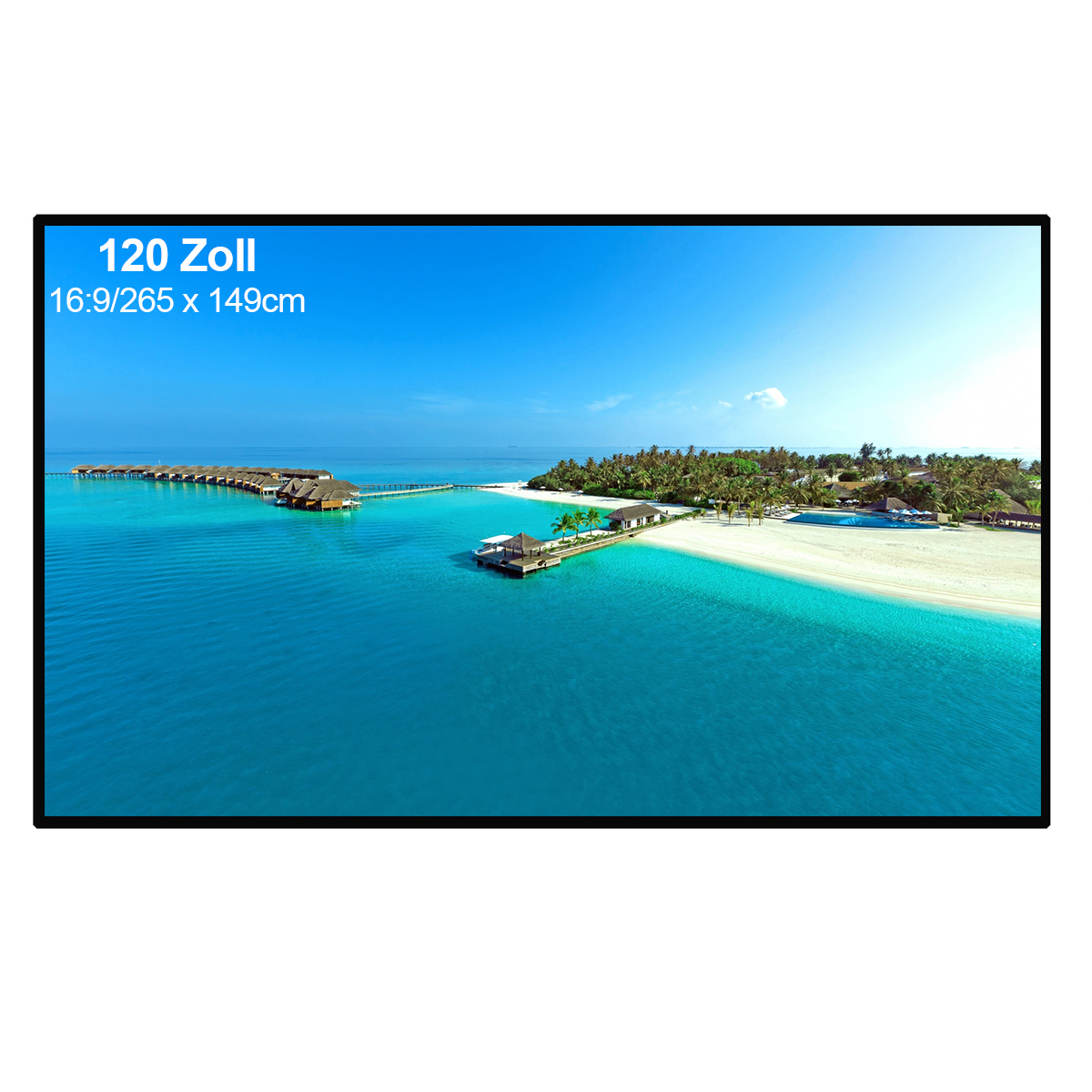 """Portable and Collapsible 120 inch 16:9 Fabric Matte White Projector Projection Screen Material PVC 104"""" x 58"""" Rolls"""