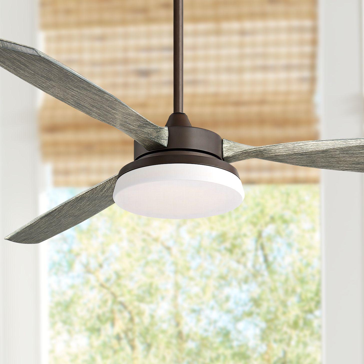 "Casa Vieja 57"" Tristan Oil Rubbed Bronze Indoor-Outdoor LED Ceiling Fan"