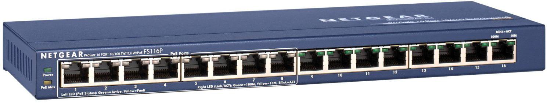 Netgear 16 Port 10 100 Switch w 8 POE by NETGEAR