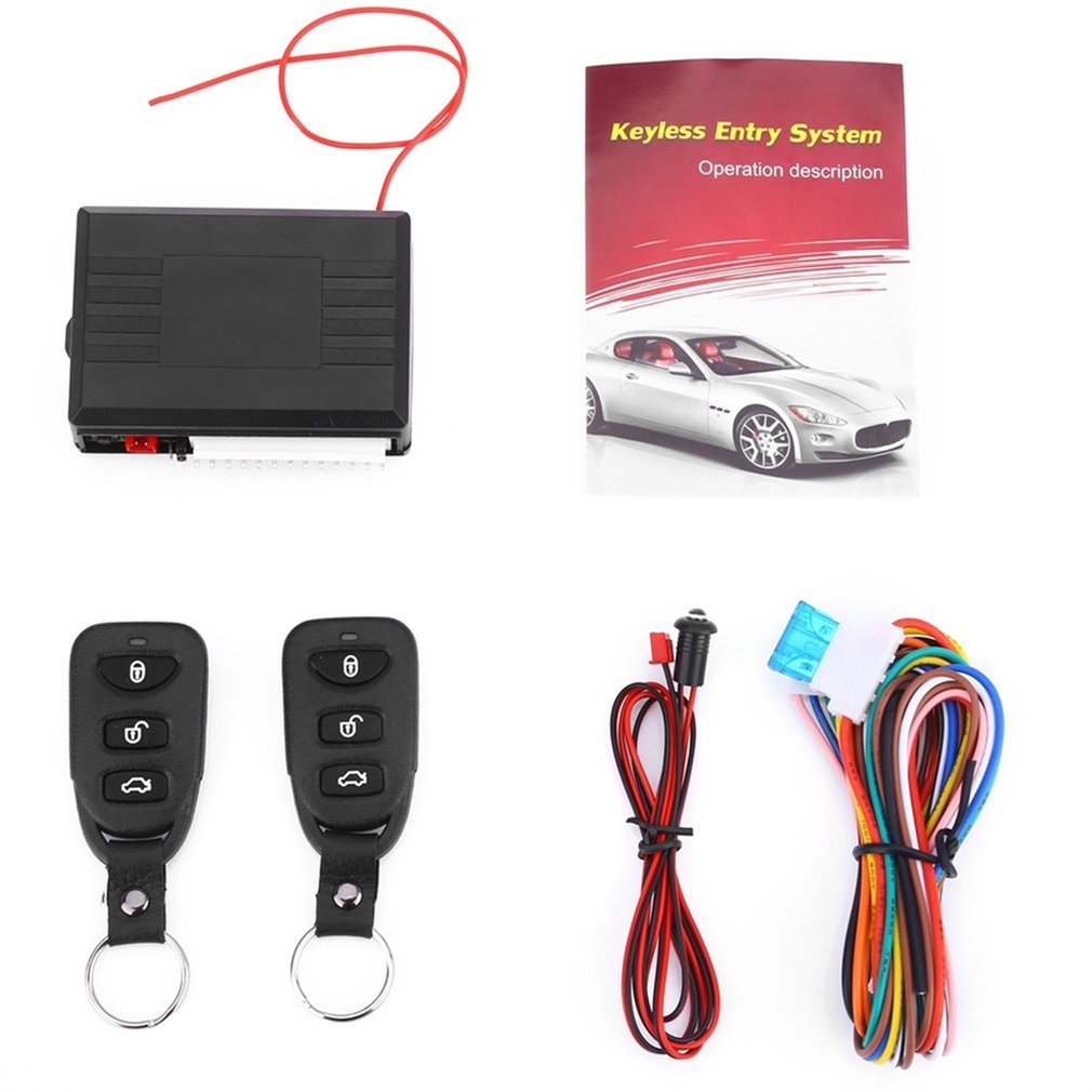 Universal Car Remote Central Kit Door Lock Vehicle Keyless Entry System