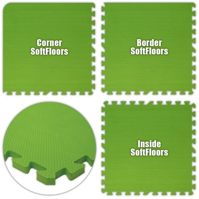 Alessco SFLG2222 SoftFloors -Lime Green -22  x 22  Set