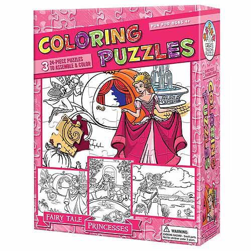Coloring Puzzles, Fairy Tale Princesses