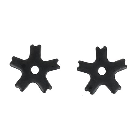 Western Bull Spur Rowels 1 1/4 Inch 5 Point Notched Black Steel Sold in Pairs