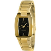 Women's LTP1165N-1C Gold Gold Tone Quartz Watch with Black Dial