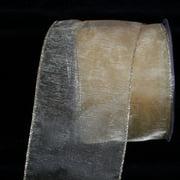 "Sheer Gold Organza Wired Craft Ribbon 3"" x 27 Yards"