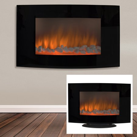 Large 1500W Heat Adjustable Electric Wall Mount   Free Standing Fireplace  Heater with Glass XLLarge 1500W Heat Adjustable Electric Wall Mount   Free Standing  . Electric Wall Fireplace Heaters. Home Design Ideas