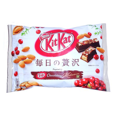Kit Kat Almond Cranberry Luxury Collection Chocolatory Moleson Limited Edition 15 Mini Bars Nestle Japan 3.67 Oz.