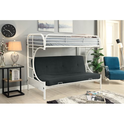Harriet Bee Sroka Twin Over Futon Bunk Bed Walmart Com