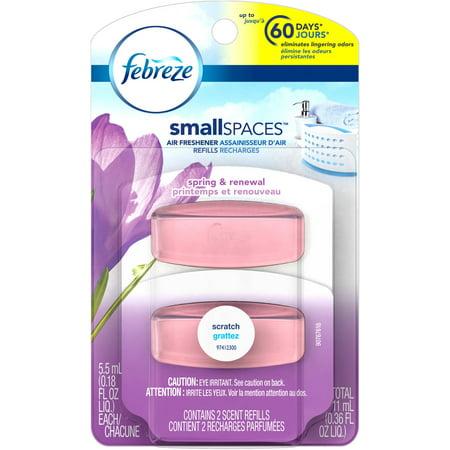 Febreze SmallSpaces Air Freshener Refills, Spring & Renewal, 0.18 fl ...