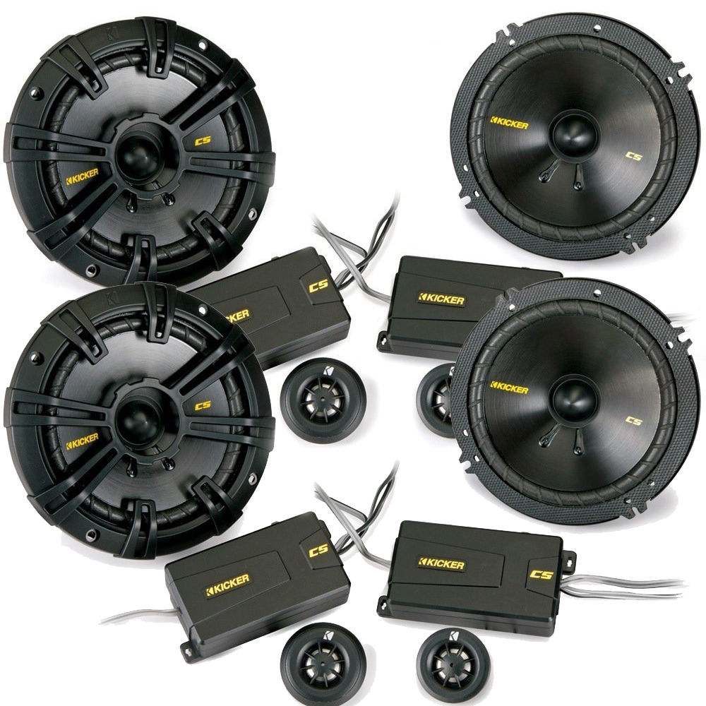 Kicker CS speaker package - Two pairs of Kicker CS Series 6-1/2 Inch Component Component Speakers 40CSS654