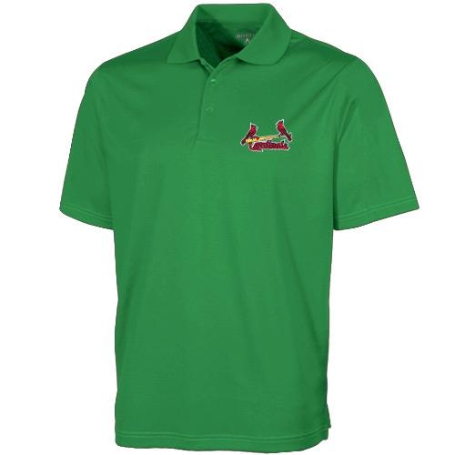 St. Louis Cardinals Antigua Desert Dry Xtra-Lite Polo - Green