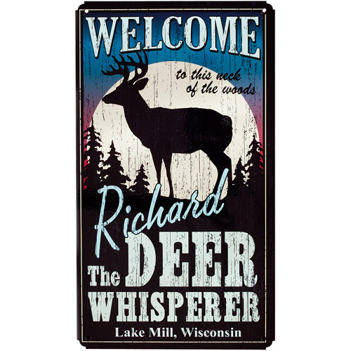 Personalized Deer Whisperer Metal Sign