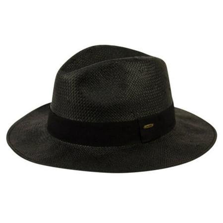 Panama Straw Cowboy Hat - Mens Panama Wide Brim Fedora Straw Hat Indiana Jones Style Summer Cool Hat