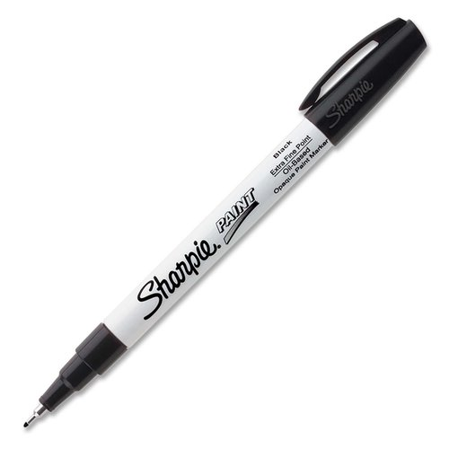 Sharpie Paint Marker - Extra Fine Point Type - Black Oil Based Ink - 1 Each