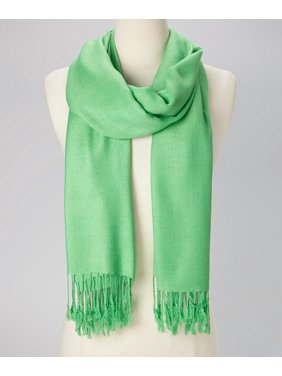 Mint Green Solid Scarfs for Women Fashion Warm Neck Womens Winter Scarves Casual Pashmina Silk Blend Scarf Wrap with Fringes for Ladies Girls by Oussum