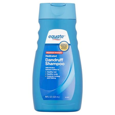 - Equate Medicated Dandruff Shampoo, Maximum Strength 11 fl oz