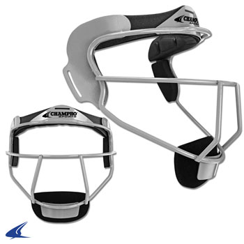 The Grill, Softball Fielder's Facemask- Youth 6 1/4-6 3/4, Silver
