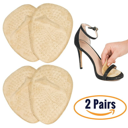 Metatarsal Pads for Women | Ball of Foot Cushions (2 Pairs Foot Pads) All Day Pain Relief and Comfort One Size Fits Shoe