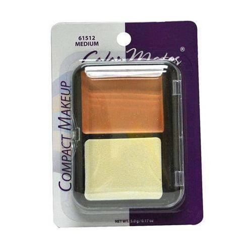 Colormates Pressed Powder Compact Makeup , Medium - 4 Ea