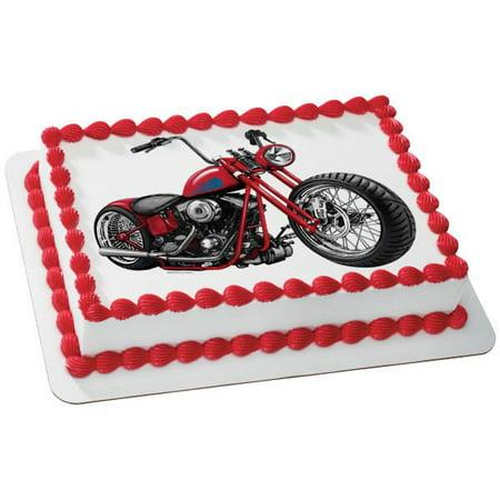 Sensational Motorcycle Edible Cake Topper Image Walmart Com Walmart Com Personalised Birthday Cards Epsylily Jamesorg