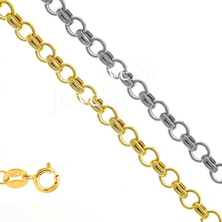 - 14k Yellow Or White Gold 1.85 mm Rolo Chain Necklace 16