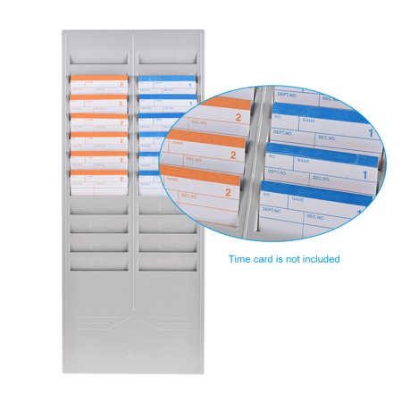 24 slot time card rack plastic wall mounted cards holder for office factory time card - Time Card Machine