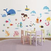 Mermaid Princess Wall Decal Sticker - 11x18
