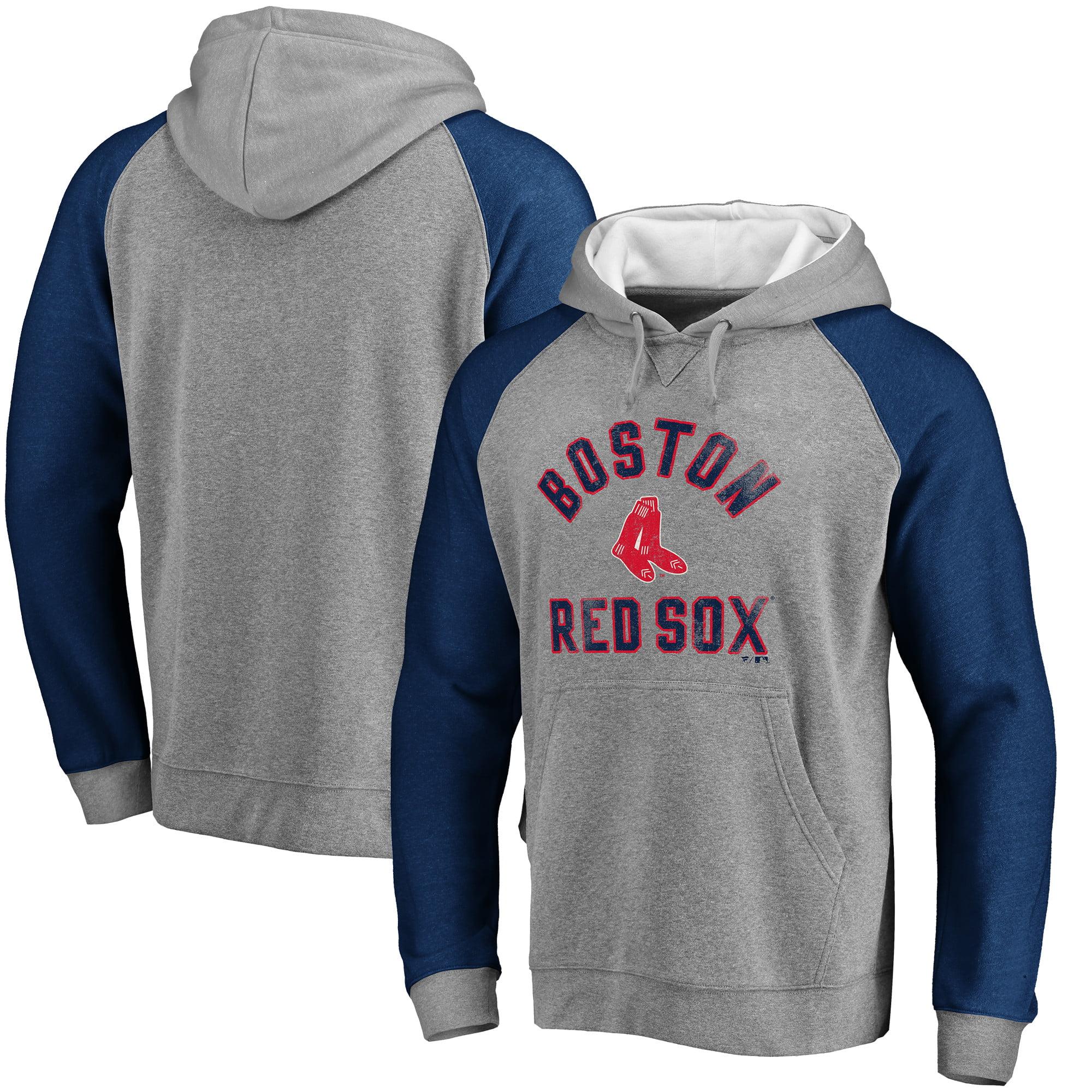 Boston Red Sox Comfort Colorblock Vintage Raglan Hoodie - Gray