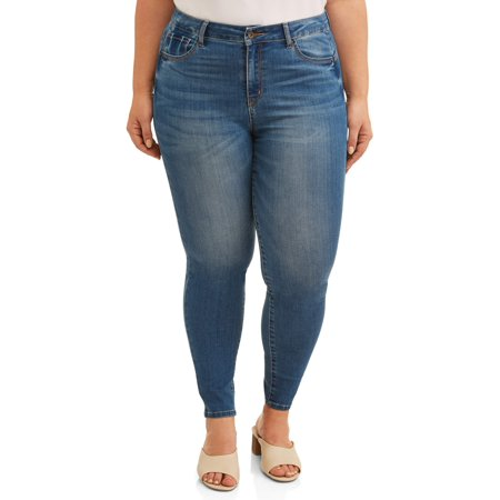 Plus Size High Waist Jeans (Juniors' Plus Size High Waisted Push-Up Skinny Jeans )