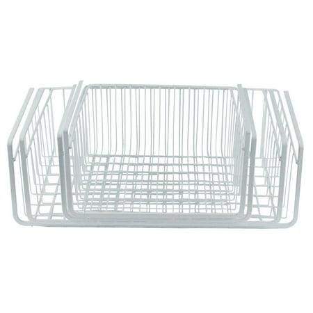 White Wire Under Shelf Storage Basket, 4-Piece Set ()