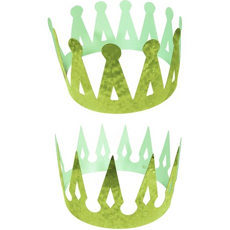 Renaissance Medieval Fantasy King Set Of 2 Green Crowns Costume Accessory