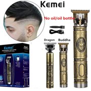 Professional Carved Pattern Electric Pro T-outliner Cordless Trimmer Hair Clipper Grooming Kit Machine Beard Barber Razor Hair Cutter(no Oli Bottle)