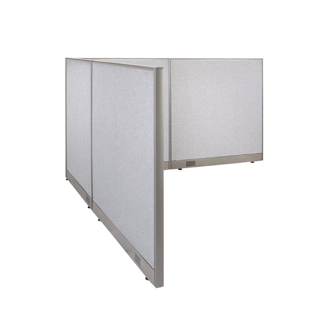 office room dividers partitions. GOF L-Shaped Freestanding Office Panel Cubicle Wall Divider Partition 96D X 96W 48H Room Dividers Partitions