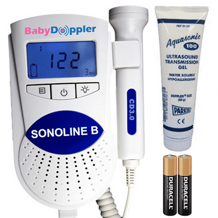 Sonoline B Fetal Doppler In Blue With 3Mhz Doppler Probe   The Authentic Baby Heart Rate Monitor From Baby Doppler