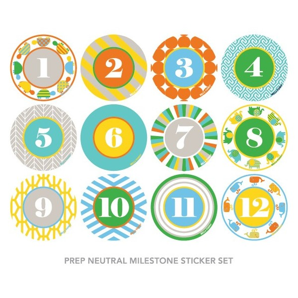 Bella Tunno Prep Neutral Milestone Sticker Set
