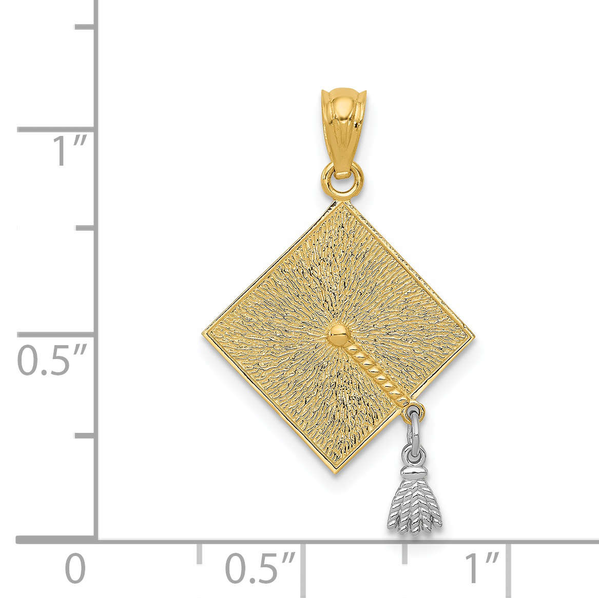 FB Jewels 14K Yellow Gold Special Mom Pendant