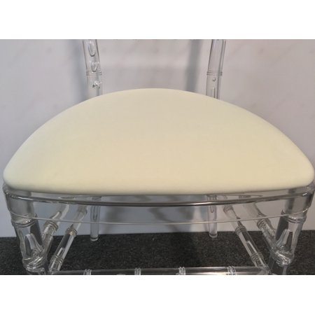 Banquet Tables Pro 100 Pack Ivory Spandex Cushion Covers For Hard Chiavari Cushions