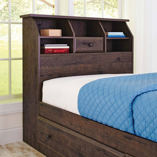 Better Homes and Gardens Crossmill Twin Bookcase Headboard, Multiple Finishes by Sauder Woodworking