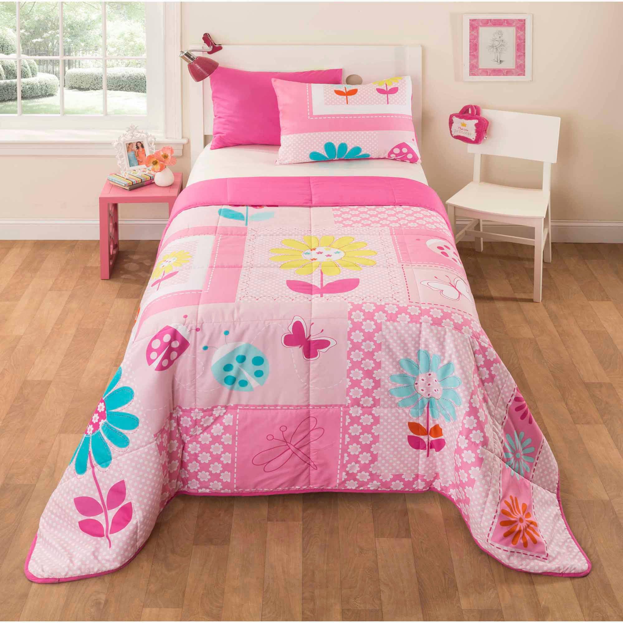 Idea Nuova Mainstays Kids Daisy Floral Bedding Comforter Set