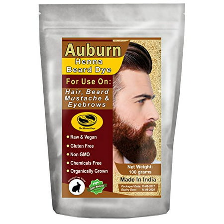 2 Pack Of Burgundy Henna Beard Dye For Men 100 Grams The Henna