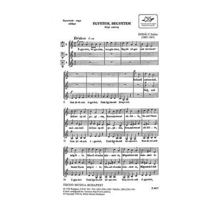 Editio Musica Budapest Egyetem Begyetem Hippity Hoppity Ssa Composed By Zoltan Kodaly Walmartcom