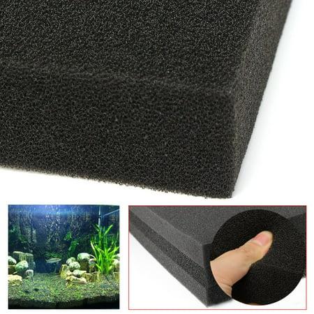 20''x20''x2'' Black Biological Cotton Filter Foam Pond Aquarium Fish Tank Sponge Pad