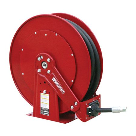 Reelcraft Dual Pedestal Grease 3 8 In  Hose Reel   100 Ft